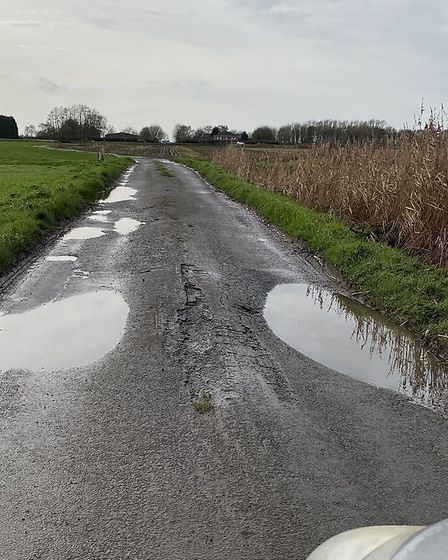 Fen road nightmare: Councillors Sarah Bligh and Gavin Booth discovered for themselves the state of t