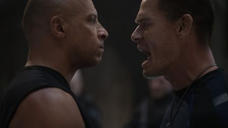 Fast and Furious' Dom (Vin Diesel) and Jakob (John Cena) in F9, directed by Justin Lin. Picture: Gil