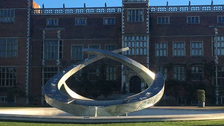 The Renaissance water sculpture on the North Front of Hatfield House, where scenes from Fast and Fur