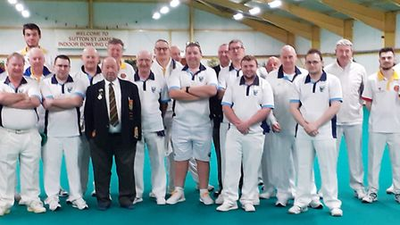 North Cambs (blue collars) lost to Lincolnshire (yellow collars) in their penultimate Derbyshire Tro