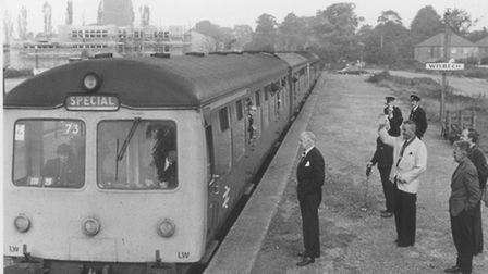 This special excursion train on September 23 1978 was the first passenger train to leave the old Wis