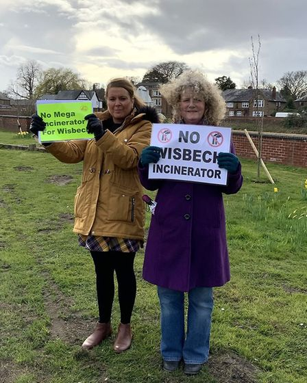 Some 80 protestors turned up in the industrial area of Wisbech to continue a protest opposed to an '