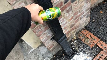 One of many posts over the years on Facebook by Fenland police dealing with street drinking in Wisbe