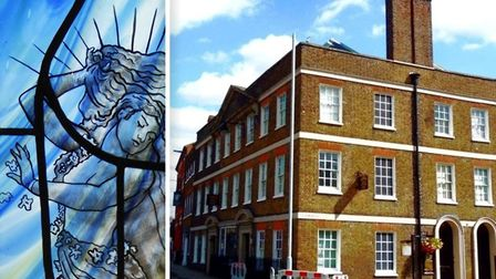 The stained glass window (left) created by artist Hazel Parry will go on show at Octavia Hills Birth