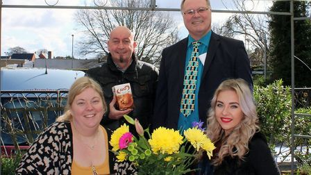 The Ferry Project has launched an Easter egg appeal for the homeless. From left, Cllr Samantha Hoy,
