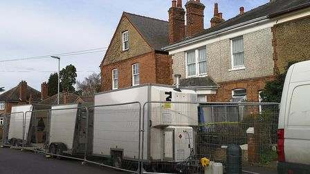 The scene on Bowthorpe Road, Wisbech which one reader believed was an isolation area for the coronav