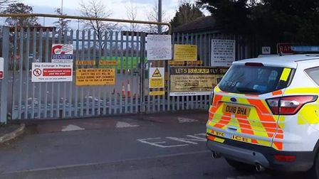 Two Wisbech men have been arrested and charged with burglary after they broke into the Wisbech recyc