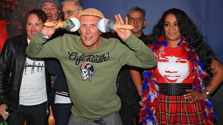 Happy Mondays backstage at Knebworth's Cool Britannia Festival two years ago. Picture: KEVIN RICHARD