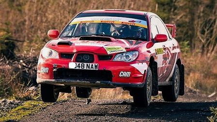 Green Belt Motor Club's Martyn Andrews and Steve Greenhill in their Subaru Impreza. Picture: CHICANE
