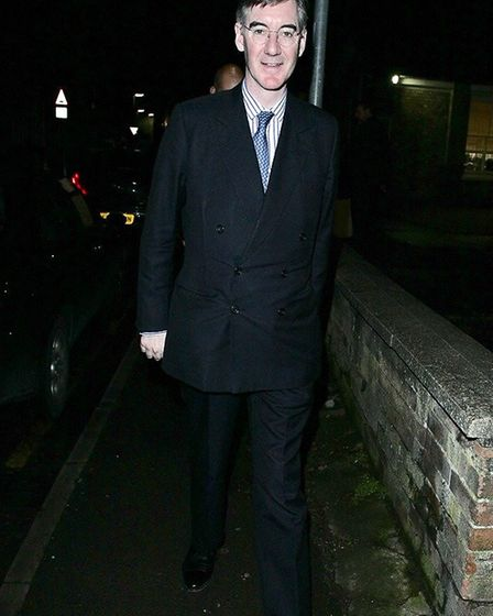 Jacob Rees-Mogg in Wisbech to address Tory Party supporters. Picture: HARRY RUTTER