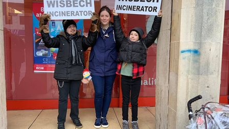 Campaigners launch fight against Wisbech incinerator at town rally. Picture: KIM TAYLOR