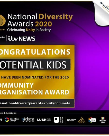 Potential Kids have been nominated for national diversity award. Picture: Potential Kids' Facebook