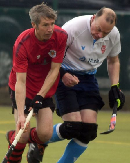 Wisbech 3rds in action with Bourne Deeping 4ths in Division Five North West of the East Men's League