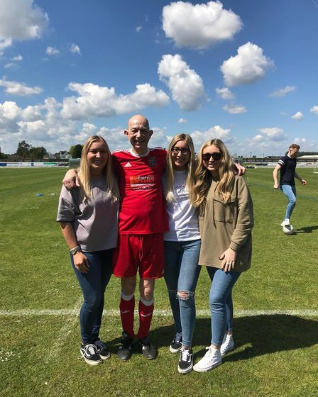 Wisbech Town Walking Football Club secretary Ben Baylis, who was given a new lease of life thanks to