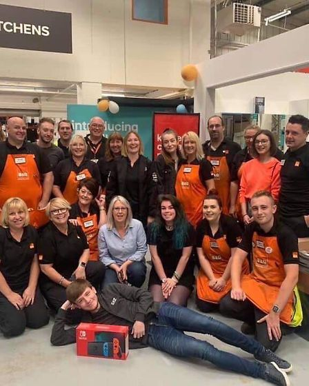 Team B&Q will walk from Moorefields Eye Hospital to the London Eye. Picture: Supplied/Family