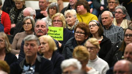 Hundreds packed into the Queen Mary Centre, Wisbech, to hear MP Steve Barclay criticise proposals fo