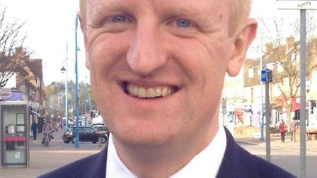 MP for Hertsmere Oliver Dowden, who is also the culture secretary, at Potters Bar Station. Picture: