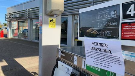 JS Holmes petrol station has stopped people fuelling their own cars in a bid to stop the spread of t