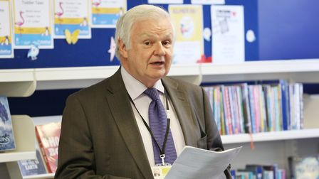 Councillor Terry Douris gave a statement on the closure of schools. Picture: DANNY LOO