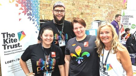 Rosie Woolgar (far left) has been nominated in the National Diversity Awards. Pictures: SUPPLIED