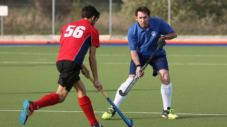 Simon Walker in action for Welwyn Garden City Hockey Club. Picture: DANNY LOO