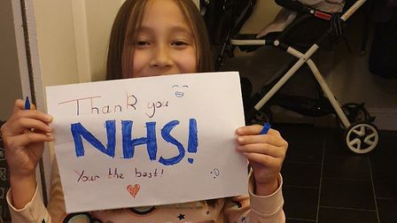 """Katarzyna's children were extremely excited to """"clap for NHS staff"""". Picture: Katarzyna Morzy."""