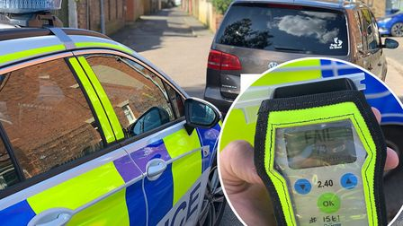 This driver was stopped in Wisbech a blew 73 in a roadside breath test, the UK limit is 35. Picture: