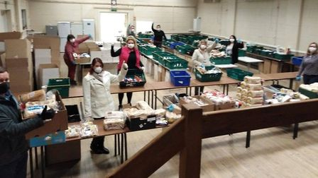 The scale of the operation at hand for workers at 50 Backpacks in Wisbech. Picture: FACEBOOK/50 BACK