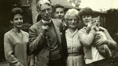 Rev Wilbert Awdry,creator of Thomas the Tank Engine, with his wife, Margaret & family.(from left),Vi