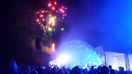 Fireworks at Folk by the Oak 2019 at Hatfield House. Picture: Alan Davies