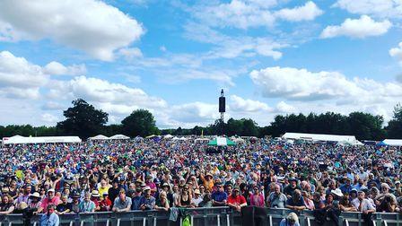Singer Julie Fowlis took this picture of the Folk by the Oak crowd from the stage during The Lost Wo