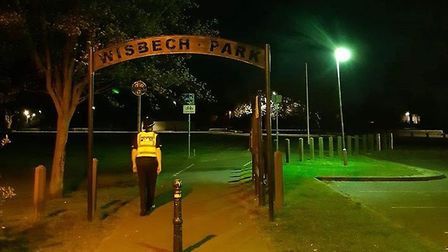 Neighbourhood officers and PCSOs were on patrol in Wisbech when they spotted a man acting suspicious