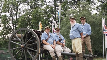 Members of the English Field Artillery Company at Hatfield House Battle Proms 2019. Picture: John An