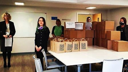 Staff at Holland and Barrett in Wisbech have donated goodie bags to workers at the North Cambridgesh