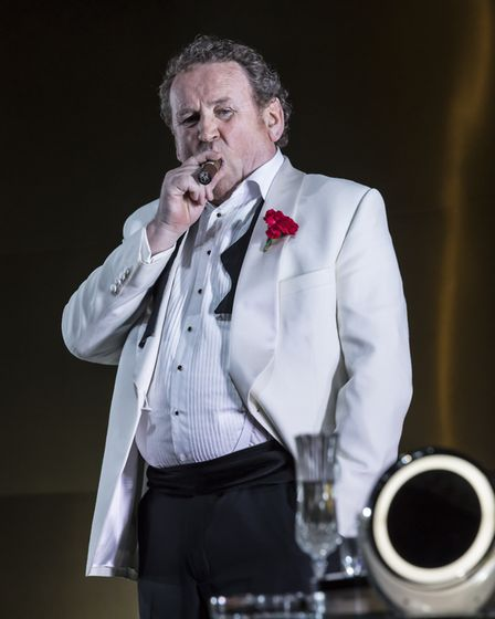 NT Live production of Tennessee Williams' Cat on a Hot Tin Roof, starring Colm Meaney. Picture: Joha