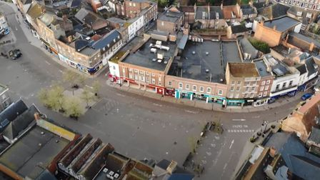 Wisbech from above. Aerial footage shows quiet Fenland town during coronavirus lockdown. Picture: Yo