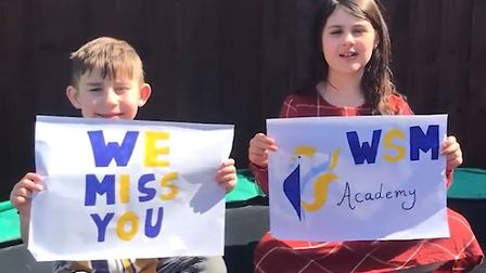 Pupils at Wisbech St Mary CoE Academy shared their feelings for teachers in a surprise video. Pictur