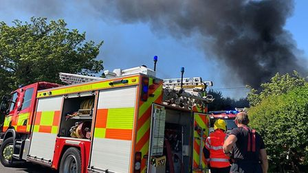 Firefighters were called to Seadyke Bank near Murrow to deal with a blaze that hit two industrial bu
