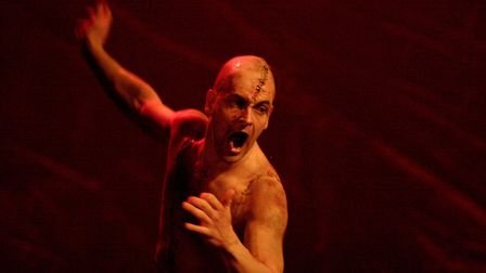The Creature (Jonny Lee Miller) in National Theatre Live's Frankenstein. Picture: Catherine Ashmore