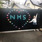 A tribute to the NHS on a gate in Digswell Hill, Welwyn Garden City. Picture: Lauren Alder