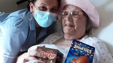 Residents and staff at Lyncroft Care Home in Wisbech received Easter eggs from homeless charity 50 B