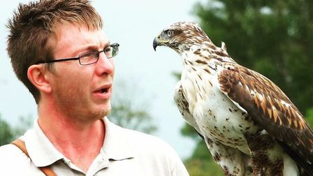 Mike Willis, owner of Fens Falconry, is looking to expand his centre in Wisbech St Mary, Cambs to al