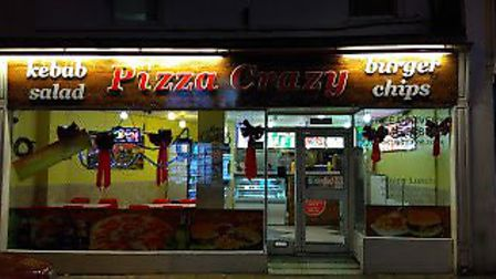 Pizza Crazy in High Street, Wisbech has received a one-star hygiene rating from Fenland District Cou