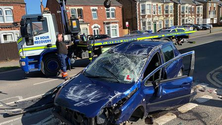 A motorist has been arrested on suspicion of drink driving after crashing his car in Lynn Road, Wis