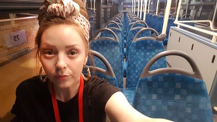 Sitting alone on top of a London Bus, North London-based care worker Tilly Martin became a key worke