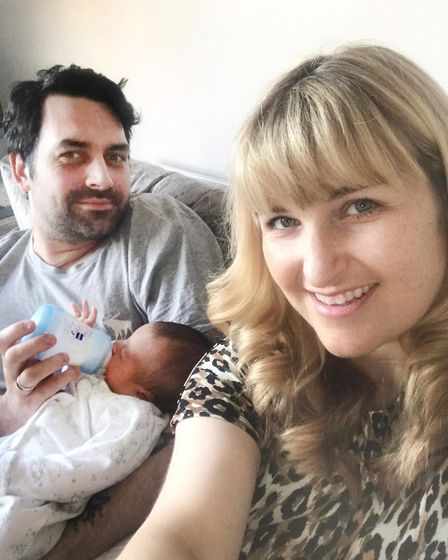 James Stannard and Laura Dilworth from Hertfordshire whose baby boy Teddy was born during the COVID-