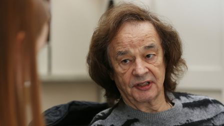 Colin Blunstone of The Zombies at the Clarion Hotel in St Albans after they were inducted into the R