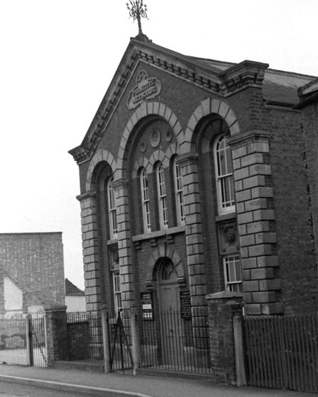 Walsoken Methodist Chapel in the 1960s. Photographed by Geoff Hasting/Courtesy of Andy Ketley