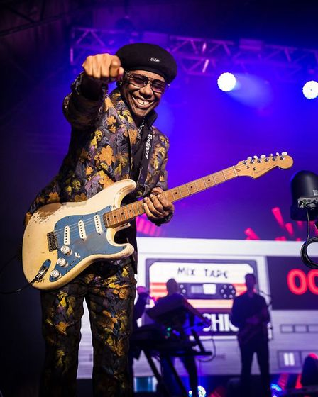 Nile Rodgers & CHIC headlined Standon Calling 2019 on the Sunday. Picture: Kennerdeigh Scott