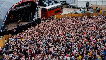 Lewis Capaldi attracted a huge crowd at Standon Calling 2019. Picture: The Manc Photographer